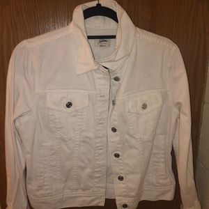 J crew White Denim Jacket
